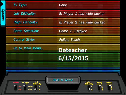 Deteacher: Activision Anthology: Kaboom! [Game 1B] (iOS) 825 points on 2015-06-15 19:59:06